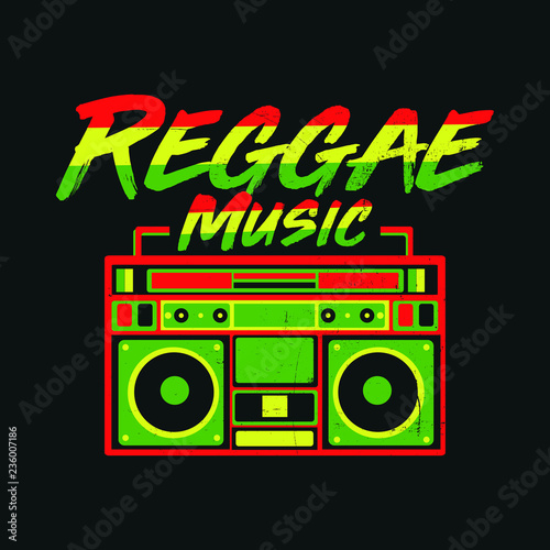 Fotografía reggae jamaica boombox vintage records music distressed
