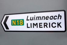 Road Sign For Limerick In Irel...