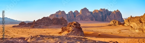 Scenic view of rock formation in desert
