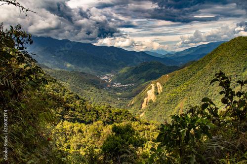 Vista del parco nazionale Podocarpus, Ecuador