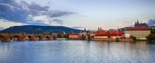 Prague Panorama At Dusk