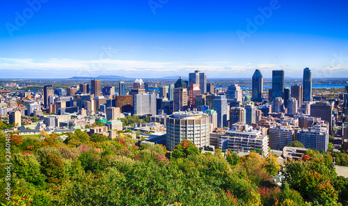 Montreal cityscape from Mount Royal