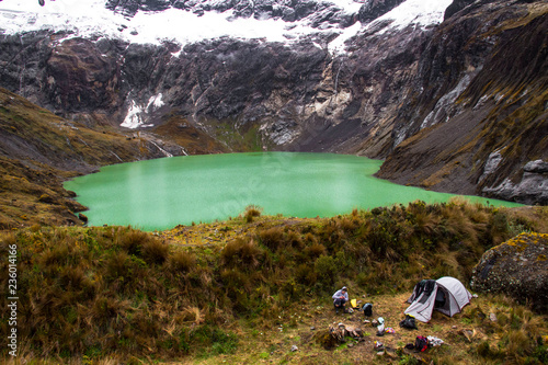 Zdjęcie XXL Żółta laguna, all'interno wulkanu El Altar, Ekwador