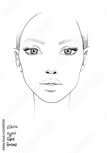 Face Chart Vorlage