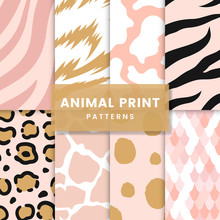 Set Of Seamless Animal Print P...