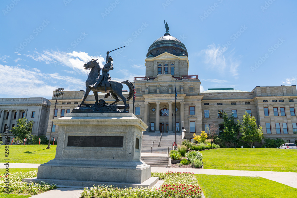 Fototapety, obrazy: Thomas Francis Meagher Statue at the Montana State Capital