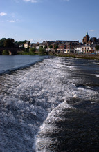 View Over The Wier, River Nith, Dumfries Town, Scotland