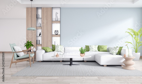 Amazing A Cozy Home White Sofa With Blue Wall And Wooden Floor In Unemploymentrelief Wooden Chair Designs For Living Room Unemploymentrelieforg