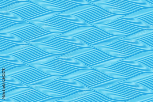 pattern of twisty waves lines vector background Fotobehang