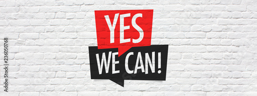 Stampa su Tela  Yes we can
