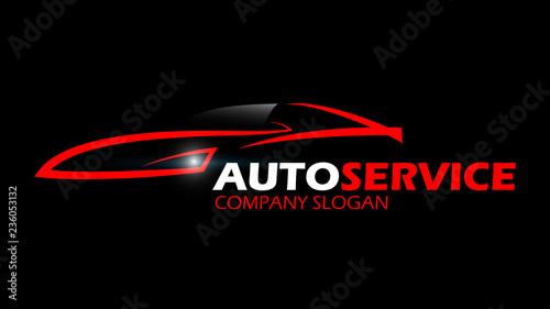 Fototapeta samochód logo wektor obraz
