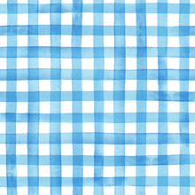 Watercolor Gingham Check, Hand...