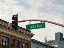 Folsom St Red Traffic Light In...