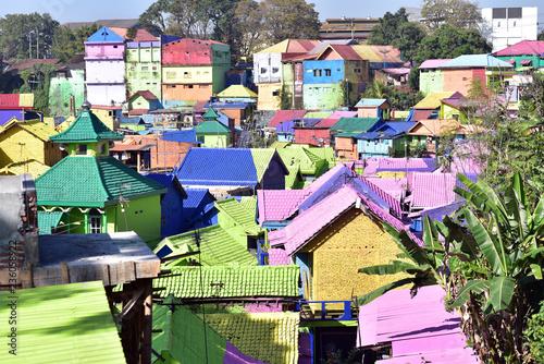 Jodipan Village With Painted Colorful Houses Kampung Warna Warni Malang City East Java Indonesia Buy This Stock Photo And Explore Similar Images At Adobe Stock Adobe Stock