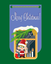 Christmas Gnome. Vector Illust...