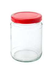 Empty Glass Jar Isolated On Wh...