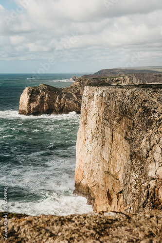 Fotografia, Obraz  Beautiful view of the Atlantic Ocean and coastal cliffs off the coast of Portugal on a sunny day