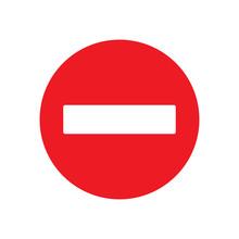 No Entry Sign Vector