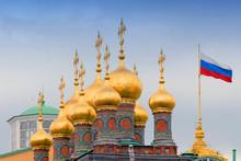 Russia, Moscow, Kremlin, Cupol...