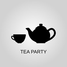 Tea Party Icon. Tea Party Symb...