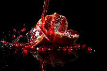 Tasty Fresh Pomegranate And Sp...