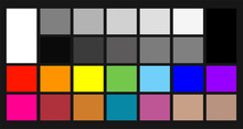 Color Samples Chip Chart For Colour Calibration.