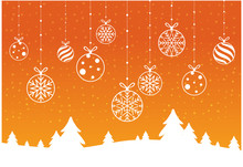 Merry Christmas And Happy New Year With Bokeh And Lens Flare Pattern On Summer Orange Color Background
