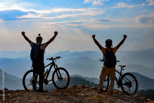 reaching the challenging mountains by bike