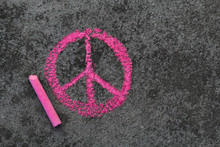 Colorful Chalk Drawing On Side...