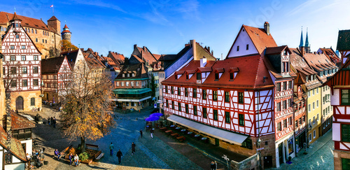 Landmarks of Germany- historic town Nurnberg in Bavaria. Old town