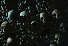 Human Skulls In Catacomb