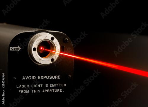 Fotografie, Obraz Laser beam from lab laser