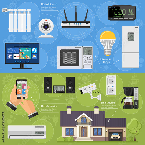 Smart House and Internet of Things Banners Canvas-taulu