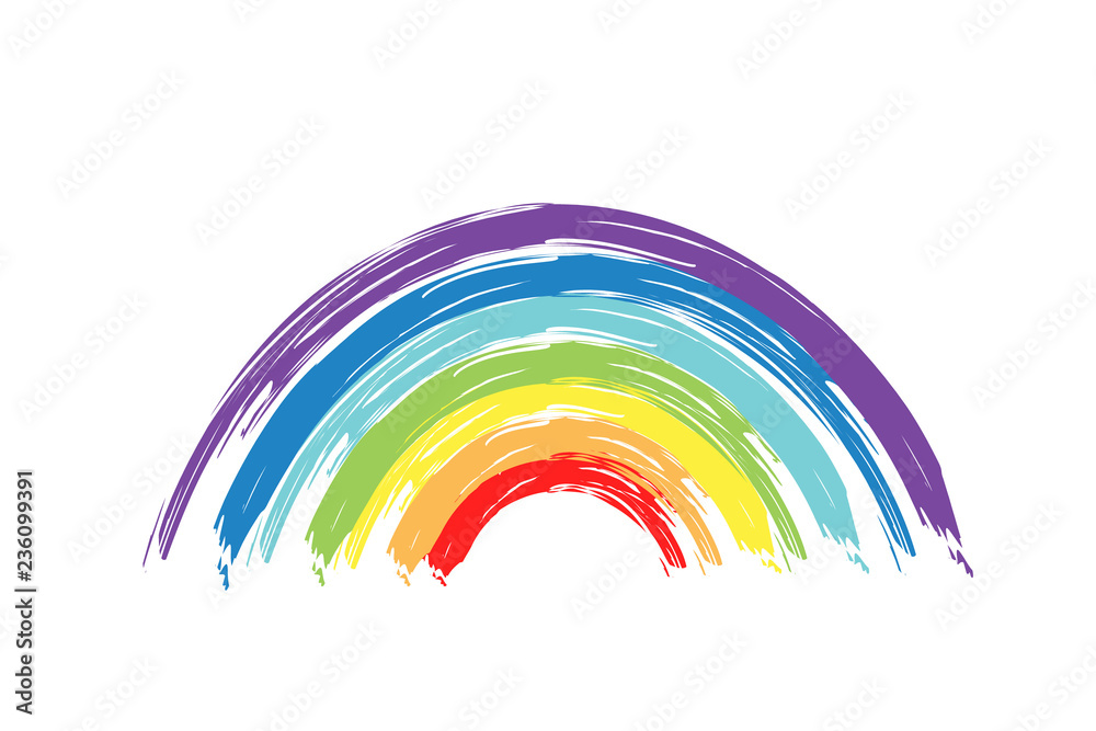 Fototapety, obrazy: Painted rainbow. Vector illustration.