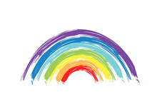 Painted Rainbow. Vector Illust...