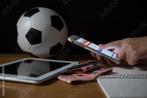Fotografía  Gambling Football Game Bet Concept
