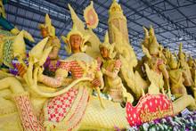 Thailand, Ubon Ratchathani Province, Candle Festival, Wax Works