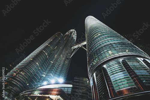 Canvas Prints Kuala Lumpur Petronas Twin Towers at night