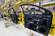 Car Door On Conveyor. Robotic ...