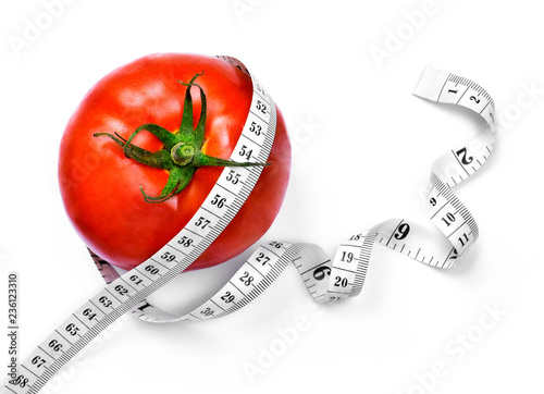 Remarkable Curly Measure Tape And Tomato Dieting Or Weight Loss Theme Download Free Architecture Designs Scobabritishbridgeorg