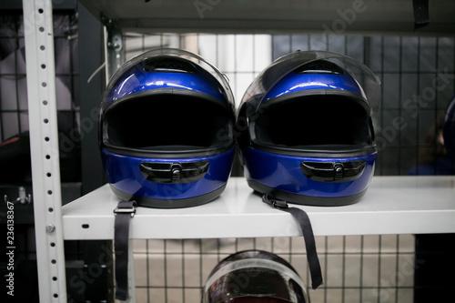 Fotografía  Racer helmet karting sport
