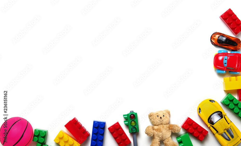 Fototapety, obrazy: Toys on a white