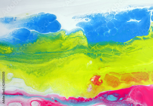 Marble texture. Acrylic colors. Colorful blots. Abstract background.