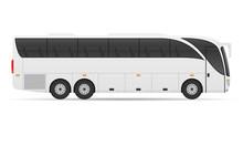 Tour City Bus Stock Vector Ill...