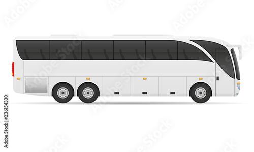 tour city bus stock vector illustration Fototapet