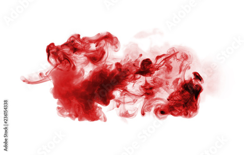 red smoke isolated on white
