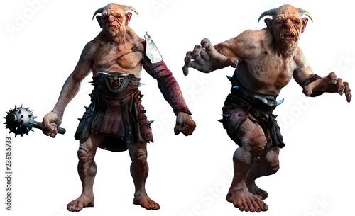 Trolls , ogres or giants 3D illustration Wallpaper Mural