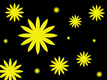 Background Of Yellow Flowers On A Dark Background