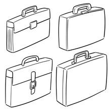Vector Set Of Briefcase