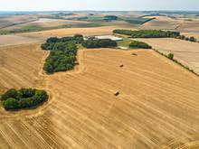 Aerial Landscape Of Harvested ...